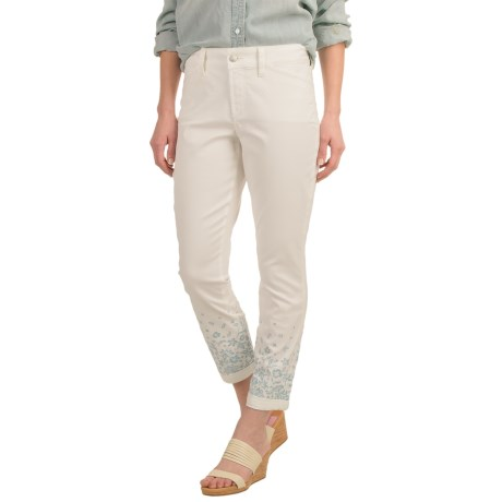 NYDJ Nina Embroidered Ankle Jeans (For Women)