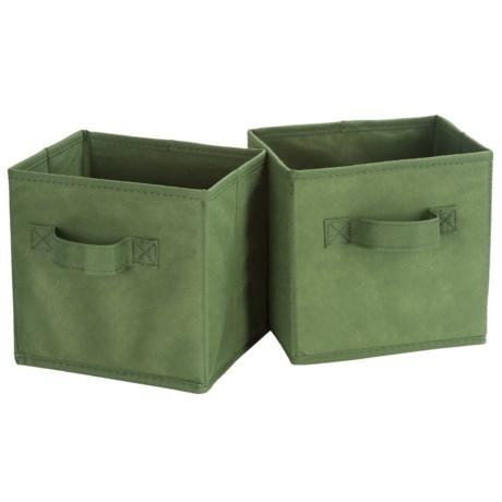 Honey Can Do Mini Folding Storage Cube - 2-Pack