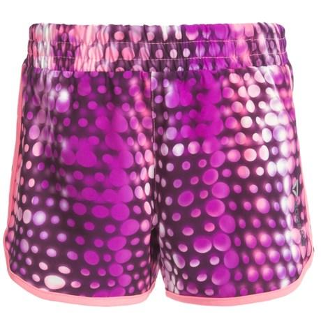 Reebok Hologram Cascade Active Shorts - Built-In Briefs (For Big Girls)