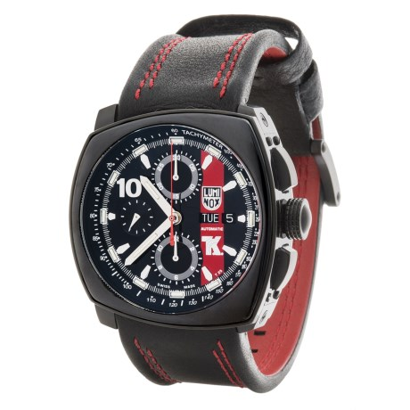 Luminox Tony Kanaan Valjoux Series 1180 Automatic Chronograph Watch - Leather Strap (For Men)