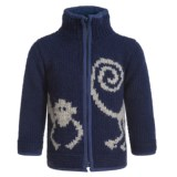 Laundromat Monkey Zip Sweater (For Little Boys)