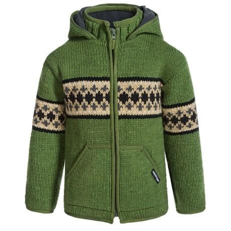 Laundromat Jacquard Stripes Hooded Sweater (For Little Girls)