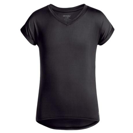 Marika V-Neck Active Shirt - Dolman Short Sleeve (For Big Girls)