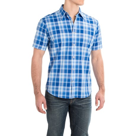 James Campbell Halver Plaid Shirt - Cotton, Short Sleeve (For Men)