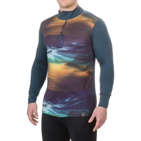 Helly Hansen Graphic Base Layer Top - Merino Wool, Zip Neck, Long Sleeve (For Men)