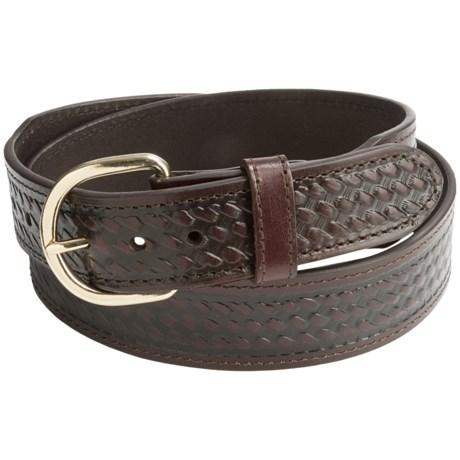 G Bar D Basket-Weave-Embossed Leather Belt (For Men)
