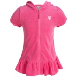 Pink Platinum French Terry Swimsuit Cover-Up - Short Sleeve (For Little Girls)