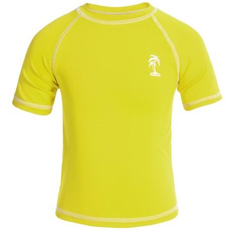 iXtreme Palm Tree Logo Rash Guard - Short Sleeve (For Big Boys)