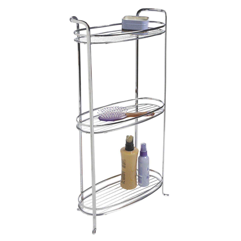 interdesign axis bath tower shelf 3 tier chrome 2090h. Black Bedroom Furniture Sets. Home Design Ideas