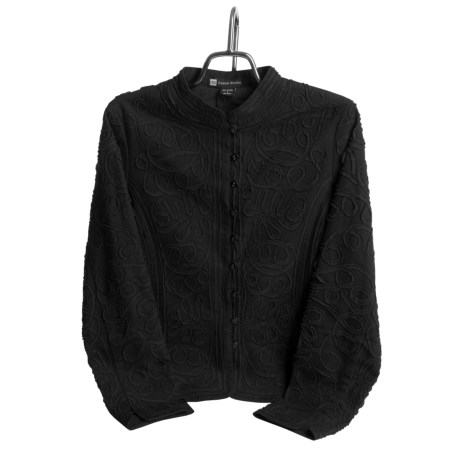 Casual Studio Scroll Jacket - Cotton Canvas (For Women)