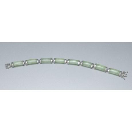Gemstar Tabular Bracelet - Jade, Sterling Silver