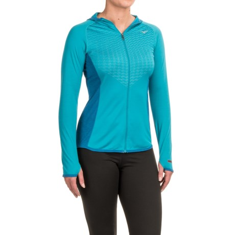Mizuno Breath Thermo® Hoodie - Zip Front (For Women)