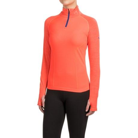 Mizuno Breath Thermo® Seamless Running Shirt - Zip Neck, Long Sleeve (For Women)