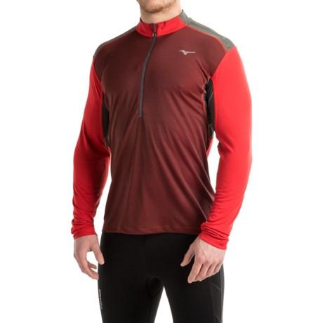 Mizuno Discover Running Shirt - Zip Neck, Long Sleeve (For Men)