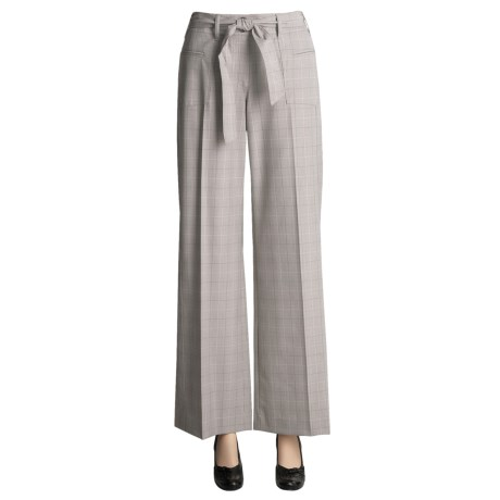 Peace of Cloth Panticular Paige Pants - Glen Plaid, Tie Belt (For Women)