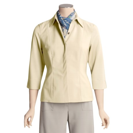 Peace of Cloth Panticular Rachel Shirt Jacket - 3/4 Sleeve (For Women)