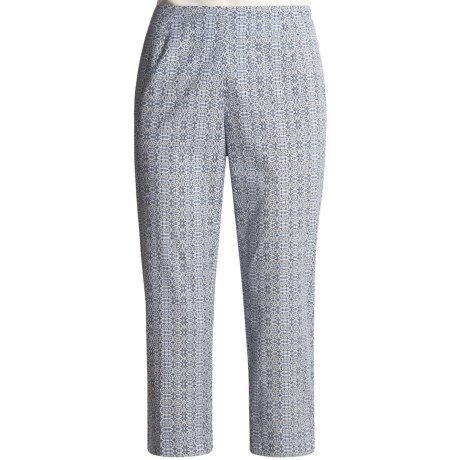 Madison Hill Printed Crop Pants (For Women)