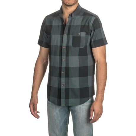 Vissla Black Light Plaid Shirt - Short Sleeve (For Men)