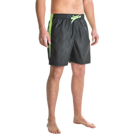 RBX Side Stripe Swim Trunks - Built-In Mesh Briefs (For Men)