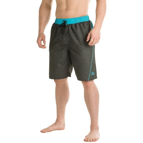 RBX Solid Swim Trunks - Built-In Briefs (For Men)