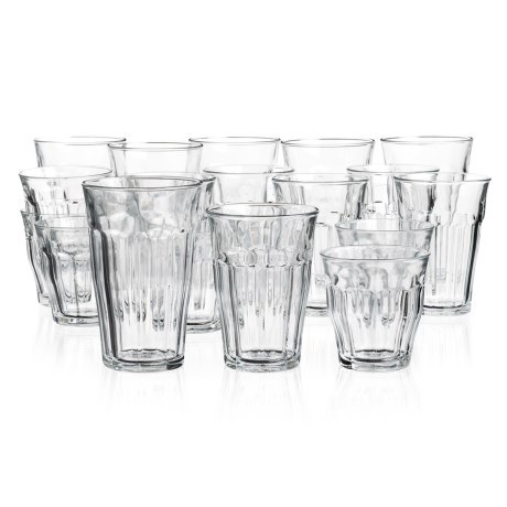 Duralex Picardie Clear Glass Tumblers - Set of 18