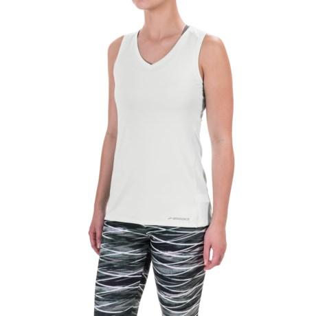 Brooks Steady Tank Top - UPF 30+, V-Neck (For Women)