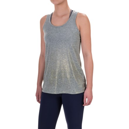 Brooks Distance Running Tank Top (For Women) in Heather Oxford/Sol Shine - Closeouts