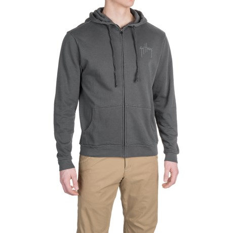 Guy Harvey Grand Slam Hoodie - Zip Front (For Men)