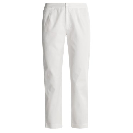 Isabella Bird Twill Crop Pants - Stretch Cotton (For Women)