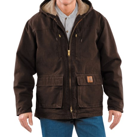 Carhartt Sandstone Jackson Coat - Sherpa Lined (For Men)