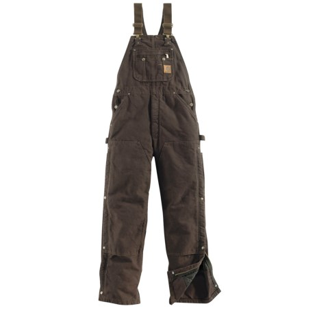 Carhartt Sandstone Bib Overalls - Zip-to-Thigh (For Men)