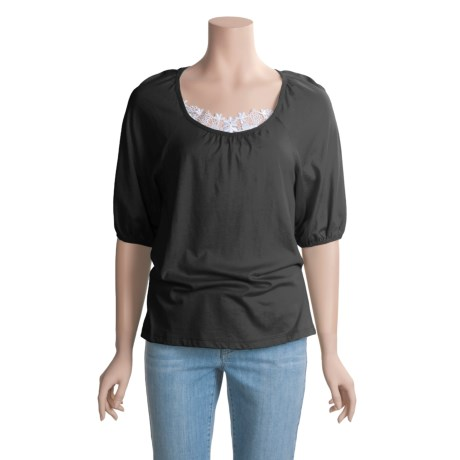 Lauren Hansen Modal-Cotton Shirt - Short Puff Sleeve (For Women)