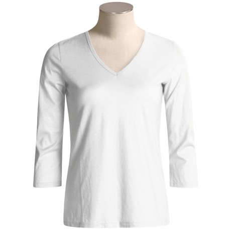 Lauren Hansen Supima® Cotton Shirt - 3/4 Sleeve (For Women)