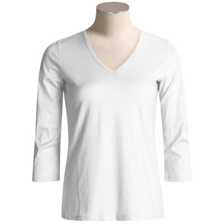 Lauren Hansen Supima® Cotton Shirt - 3/4 Sleeve (For Women)