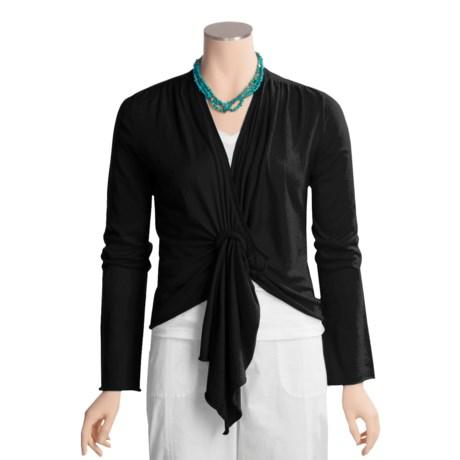 Lauren Hansen Silk-Cotton Shirt - Wrap-Style, Long Sleeve (For Women)