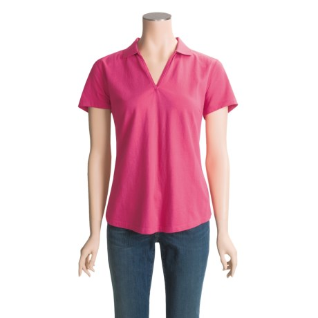 Woolrich Pebble Creek Polo Shirt - Cotton Jersey, Short Sleeve (For Women)