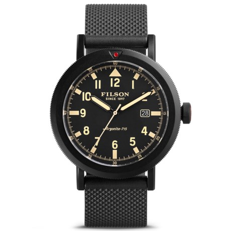 Filson Scout Argonite Quartz Watch - 45.5mm, Rubber Strap (For Men)