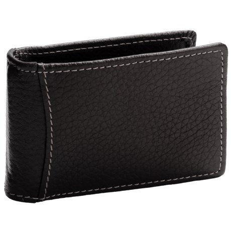 Buxton Dopp® Hudson Front Pocket Flip Clip Wallet - Leather, RFID (For Men)