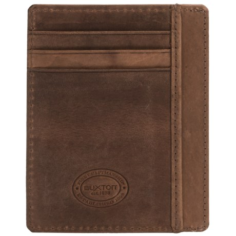 Buxton Get-Away RFID Front Pocket Wallet - Leather (For Men)