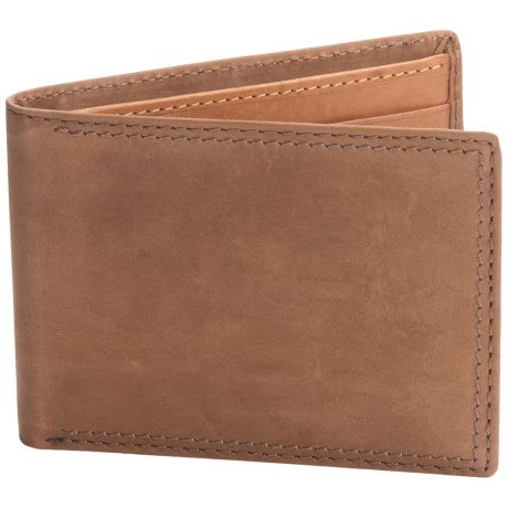 Buxton Leather RFID Slimfold Wallet (For Men)