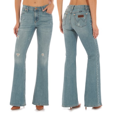 Wrangler Flared Leg Jeans - High Waist (For Women)