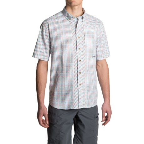 True Flies Bokeelia Check Seersucker Shirt - UPF 25+, Short Sleeve (For Men)