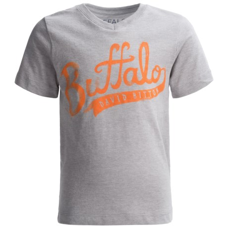 Buffalo David Bitton Pina T-Shirt - V-Neck, Short Sleeve (For Little Boys)