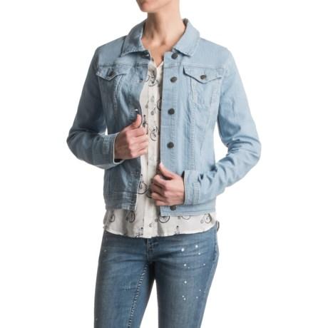 Max Jeans Railroad Trucker Jacket (For Women)