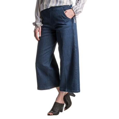 Max Jeans Wide-Leg Gaucho Jeans (For Women)