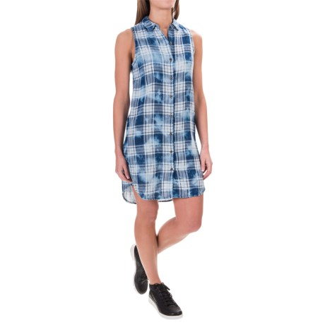 Max Jeans Cotton Dress - Sleeveless (For Women)