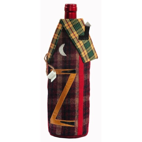 Outside Inside Outhouse Wine Bottle Cover