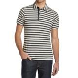NAU To-Polo-Gy Stripe Polo Shirt - Organic Cotton, Short Sleeve (For Men)