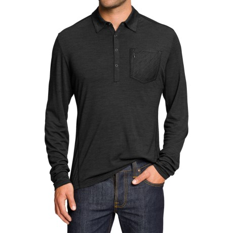 NAU M2 Polo Shirt - Merino Wool, Long Sleeve (For Men)