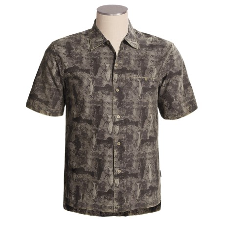 Woolrich Blackwell Shirt - Cotton Island Cloth, Short Sleeve (For Men)